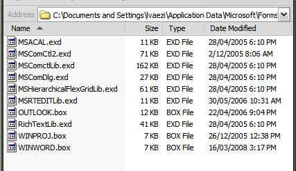 EXD files